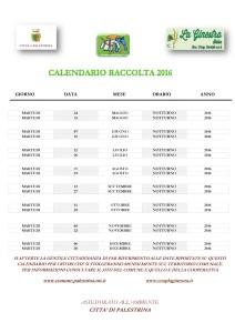 Calendario Raccolta
